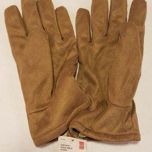 uniqlo men suede gloves M/L